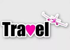 Travel love sticker
