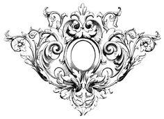 Center of chest piece Gravure Metal, Tattoo Painting, Filigree Tattoo, Ornament Drawing, Kunst Tattoos, Mandala, Tattoo Hals, Carving Designs, Tattoo Ideas