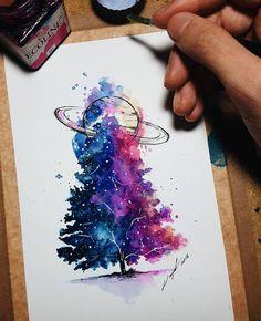 "9,019 curtidas, 25 comentários - Watercolor illustrations (@watercolor.illustrations) no Instagram: "" Watercolorist: @artsplashhh #waterblog #акварель #aquarelle #drawing #art #artist #artwork…"""