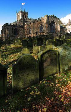 St. Mary church & cemetery, Barnard castle, England.    Oldest part from 12-13th c.    by davewebster14 on Flickr.