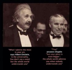 Two great minds admiring each other.