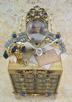 Artfully Musing: Marie Antoinette Inspired Matchbox Chest