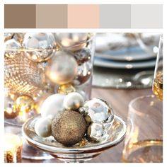 Luxurious Christmas colour palette