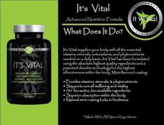 Its Vital Core Nutrition is a cutting-edge multivitamin. This gluten-free, whole -food multivitamin gives you the core nutrients your body needs right when you need them with controlled-released technology for all day nutrition. Loyal customer price - $29 for 90 tablets. Take 3 a day.