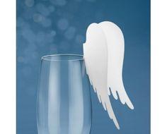 Byd dine gæster til bord med flotte englevinge bordkort der kan anvendes som de er, eller dekoreres efter eget ønske.