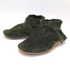 Leather Baby Shoes Moccasins Soft Sole Eco Friendly 6 by KaBoogie, $30.00