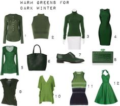 Warm Greens for Dark Winter