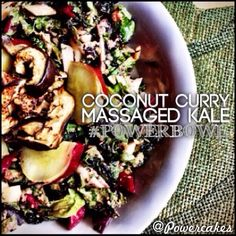 "Coconut Curry Massaged Kale ""Powerbowl"" from @Kasey! Looks delish!"
