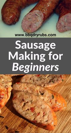 To Make Sausage at Home!It Is Fun and Easy! Sausage Making for Beginners: find out how to make homemade, delicious sausages. Sausage Making for Beginners: find out how to make homemade, delicious sausages. Smoked Sausage Recipes, Homemade Sausage Recipes, Venison Recipes, Summer Sausage Recipes, Salami Recipes, Homemade Italian Sausage, Sushi Recipes, Homemade Recipe, Drink Recipes