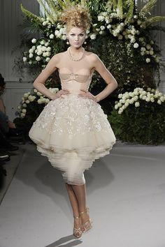John Galliano Shows a Little Garter for Fall 2009 Christian Dior Couture | POPSUGAR Fashion