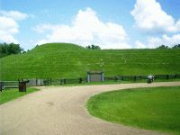 Emerald Mound (1250-1600 AD), Natchez Trace, Natchez, MS-  In all of the US and Canada, only Monk's Mound in the Cahokia complex at East St Louis, IL, is larger than Emerald Mound near Natchez, MS.