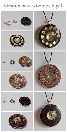Nespresso capsule pendants, www.deschdanja.ch