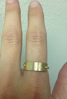 Personalized Initial Ring  Engraved Rings by jamesmichellejewelry, $30.00