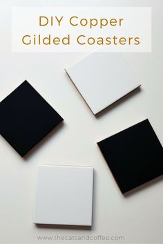 DIY Copper Gilded Coasters | Cats & Coffee