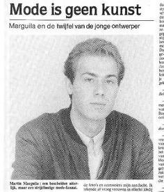 martin  margiela Belgium newspaper, dated March 3, 1983.