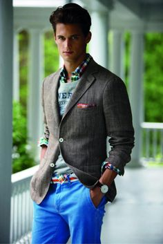 Boys have style too... this preppy look speaks of summering on Nantucket, Mint Juleps at the Country Club and a well- bred heritage