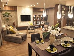 高級で贅沢な食卓 ダイニングルーム- 高級で贅沢な食卓   インテリアコーディネートレシピ House Design, Living Dining Room, Interior Design, Perfect Living Room, Condo Interior, Indian Home Interior, Home Cinema Room, Home Decor, Room