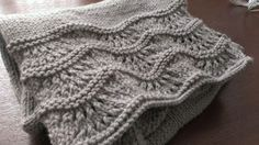 Free Patterns. This scarf would be beautiful in a bright color like Red. But even in grey it is lovely.
