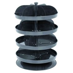 "Find it here.   12"" Revolving Four Tray Bin"
