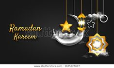 Find Ramadan Kareem Background Realistic Crescent stock images in HD and millions of other royalty-free stock photos, illustrations and vectors in the Shutterstock collection. Thousands of new, high-quality pictures added every day. Ramzan Wallpaper, Calligraphy Wallpaper, Lantern Lamp, Ramadan, Silver Color, Royalty Free Stock Photos, Ceiling Lights, 3d, Illustration