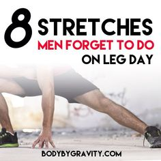 Warm up your lower body with these 8 stretches. This warm up will increase your leg mobility so you can do anything on leg day. Weight Lifting Workouts, Fit Board Workouts, Workout Board, Calf Exercises, Fitness Exercises, Bodyweight Strength Training, Warm Up Stretches, Workout Plan For Men, Workout Plans