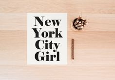 PRINTABLE Art New York City Girl Typography Art by WishfulPrinting