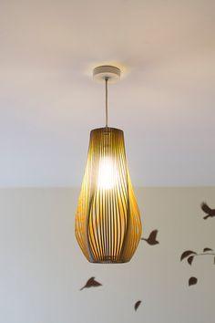 Wooden lamp design wooden lamp wooden lightning modern design twisted lasercut wooden lampshade no3 aloadofball Choice Image