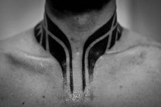 Tribal Tattoo Neck Unique 40 Tribal Neck Tattoos for Men Manly Ink Ideas