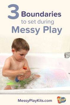 Messy play is more successful when there are rules and clear boundaries involved. This resource contains 3 types of boundaries parents can set to make sensory activities successful and fun for both the kids and adults. #messyplaykits Indoor Activities For Kids, Sensory Activities, Sensory Play, Play Based Learning, Fun Learning, Appropriate Behavior, Setting Boundaries, Messy Play, Science Kits