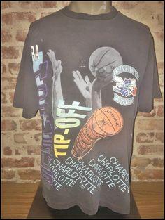 Vintage 90's NBA Charlotte Hornets Aerial Assault Shirt - Size Large by RackRaidersVintage on Etsy