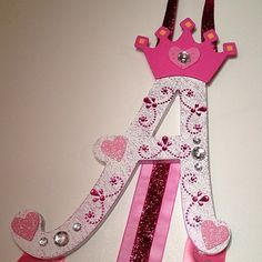 Letter Bow Holder by BrittsBeautyBoutique on Etsy, $25.00