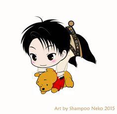 Chibi Yuzu phonestrap wannabe ♥ Art by Shampoo Neko #羽生結弦 #YuzuruHanyu