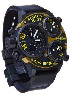 Welder K37 6501 Triple Movement Black Steel Yellow