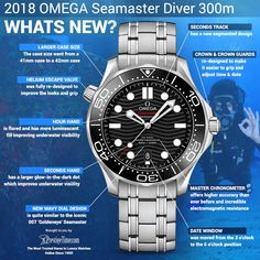 Omega Seamaster Diver Co-Axial Master Chronometer Mens Watch Omega Seamaster Diver 300m, Omega Watches Seamaster, Omega Seamaster Automatic, Omega Speedmaster, Elegant Watches, Beautiful Watches, Omega Co Axial, Omega Aqua Terra, Omega Railmaster