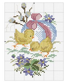 Chicks ovals 2 colored chart