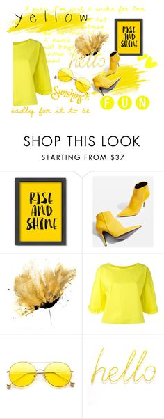 """""""yellow"""" by mariamqeqnadze ❤ liked on Polyvore featuring Americanflat, F, Topshop, Tsumori Chisato, Justin Bieber, Summer, beautiful and hello"""