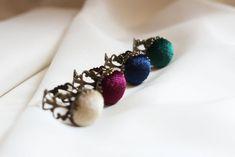 Round velvet ring Adjustable ring Handmade rings Women jewelry | Etsy Handmade Rings, Handmade Items, Handmade Jewelry, Unique Jewelry, Womens Jewelry Rings, Women Jewelry, Bold Rings, Green Rings