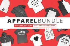 600+ Apparel Mockups Bundle by Pixel Sauce on @creativemarket