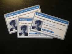 """business cards facebook-style by Jean-Baptiste Gouraud. I like this Call To Action: """"confirm"""" :)"""