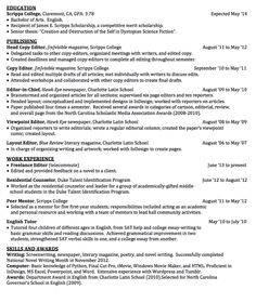 sample head copy editor resume httpexampleresumecvorgsample