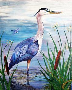 Lisa Hoffmann: Great Blue, 2011 Painting