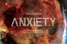 Ad: Anxiety Font by Drizy on Introducing ANXIETY! a new logo font with multilingual support, inspired from the feeling of strangulation that I visualized into the Bold Fonts, New Fonts, Business Brochure, Business Card Logo, Futuristic Fonts, Web Design, Graphic Design, Brand Design, Creative Design