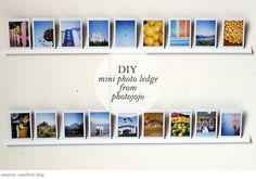 DIY Mini Photo Ledge fromPhotojojo - Home - Creature Comforts - daily inspiration, style, diy projects + freebies