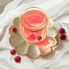 Cool Pixel Art, Anime Pixel Art, Anime Art, Arte 8 Bits, Pixel Animation, 8bit Art, Cross Stitch Pictures, Tea Art, Photo Wall Collage