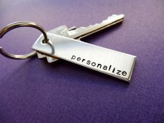 Customized+Keychain++Hand+stamped+personalized+by+TesoroJewelry,+$11.00
