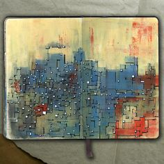 Moleskine - DESERT CITY_Drawing (Acrylic and ink), 2015_Mariasun Salgado