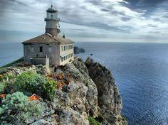 Lighthouse on island Vis, Croatia