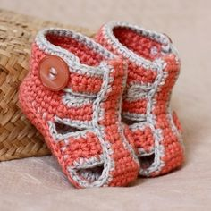 Crochet PATTERN for baby booties