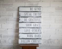 Family Rules Sign | Christian Values sign | Family Values | Gift for Her…
