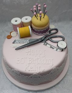 Seamstress Birthday Cake!! :-)